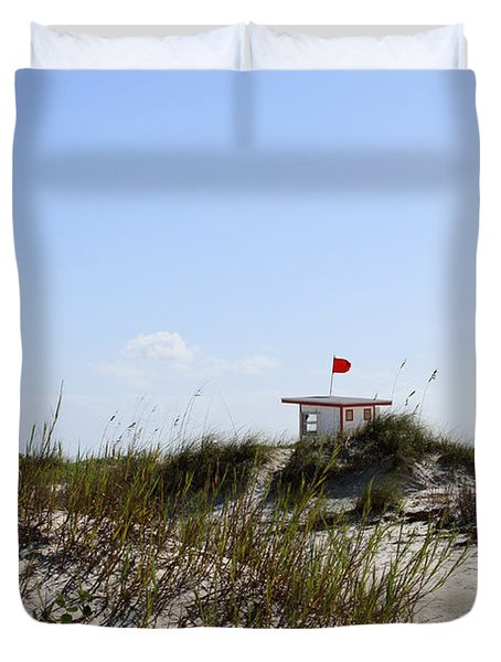 Lifeguard Station Duvet Cover by Chris Thomas