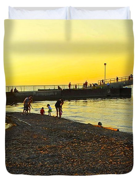 Lifes A Beach Duvet Cover by Frozen in Time Fine Art Photography
