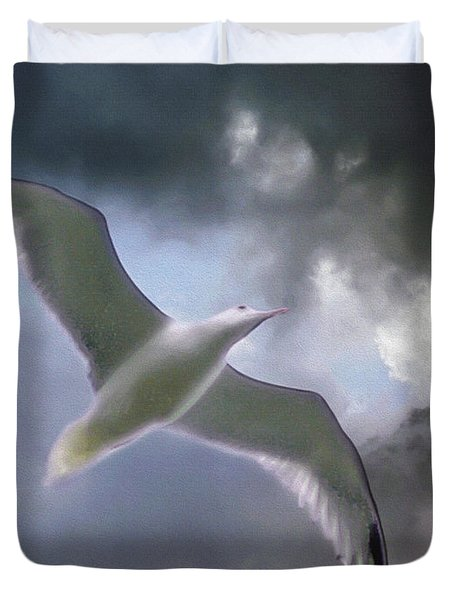 Lift - Oil Paint Effect Duvet Cover by Brian Wallace