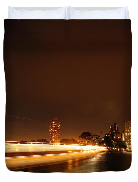 Light Across The Bay Duvet Cover by Justin Woodhouse