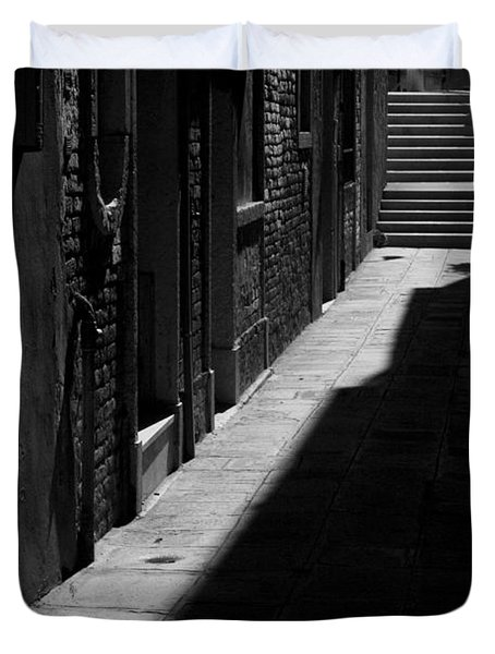 Duvet Cover featuring the photograph Light And Shadow - Venice by Lisa Parrish