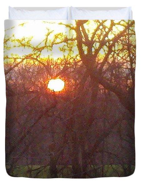 Light At Sunrise Duvet Cover