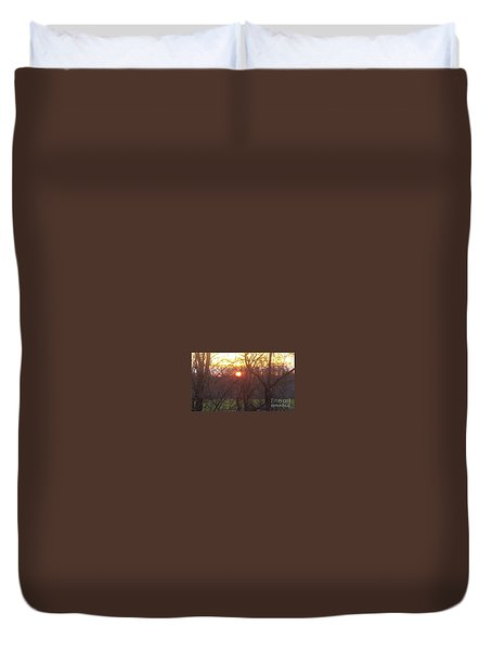 Light At Sunrise Duvet Cover