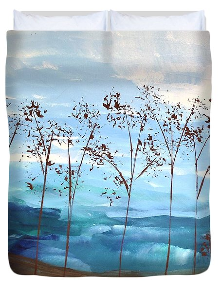 Duvet Cover featuring the painting Light Breeze by Linda Bailey