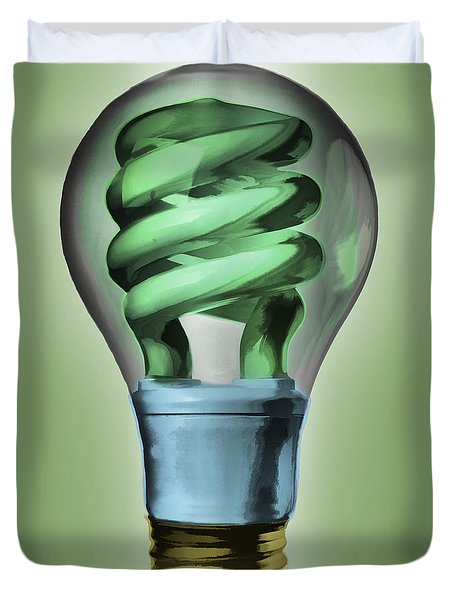 Light Bulb Duvet Cover