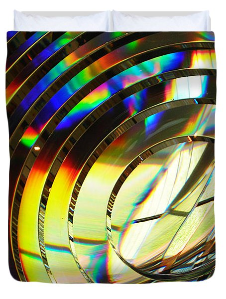 Light Color 1 Prism Rainbow Glass Abstract By Jan Marvin Studios Duvet Cover