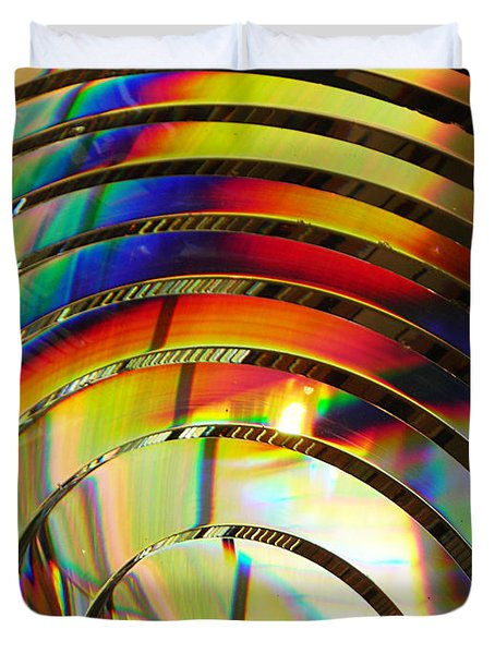 Light Color 2 Prism Rainbow Glass Abstract By Jan Marvin Studios Duvet Cover