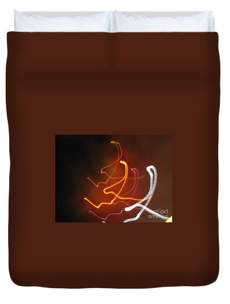Duvet Cover featuring the photograph Light Drawing. I..i..i... Dancing Lights Series by Ausra Huntington nee Paulauskaite