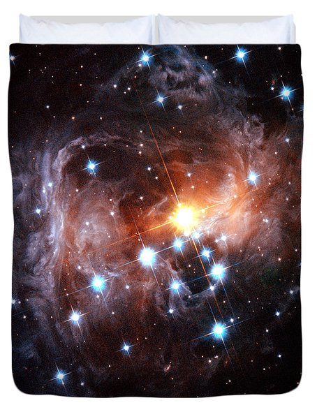Light Echo Around Star V838 Monocerotis Duvet Cover by Science Source