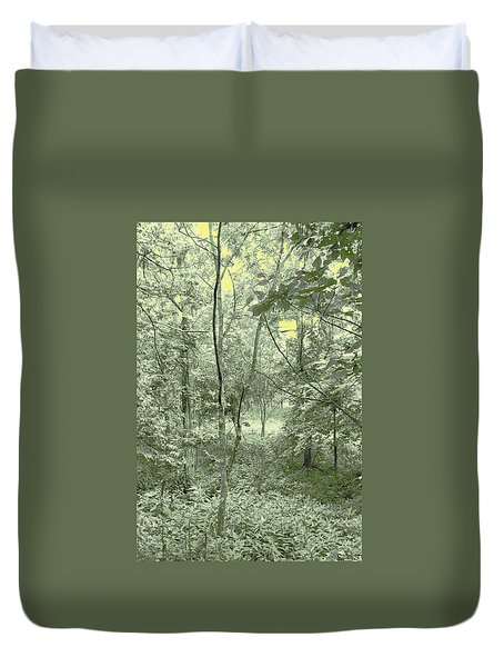 Duvet Cover featuring the photograph Light Forest Scene by Tom Wurl