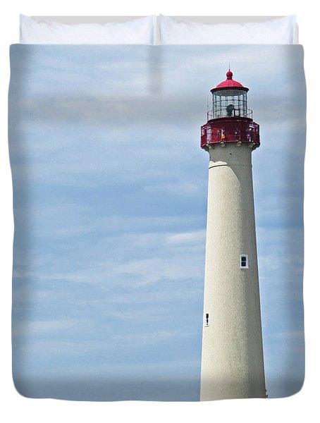 Light House At Cape May Nj Duvet Cover