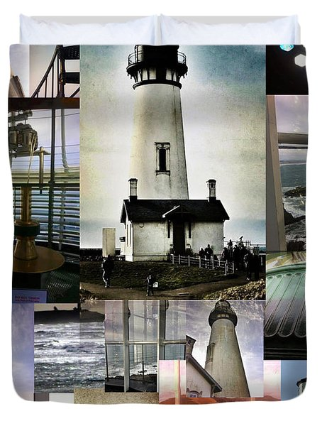 Light House Collage Duvet Cover by Susan Garren