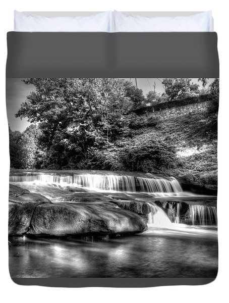 Light In Black And White Duvet Cover