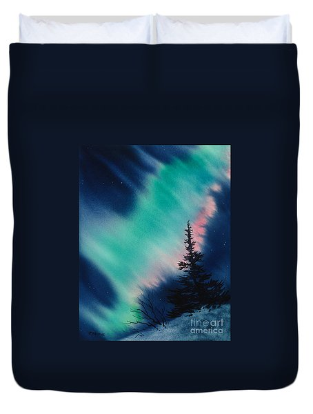 Light In The Dark Of Night Duvet Cover by Teresa Ascone