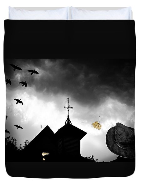 Light In The Window Duvet Cover by Bob Orsillo