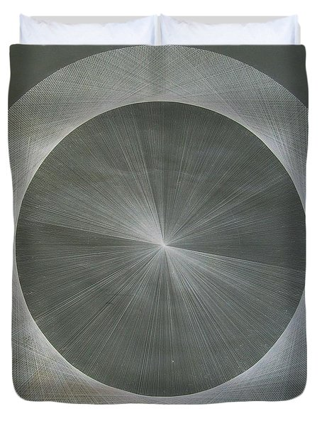 Light Is Pi  The Shape Of Pi Duvet Cover by Jason Padgett