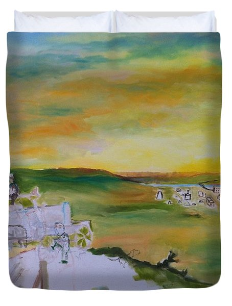 Light Duvet Cover by Mary Ellen Anderson