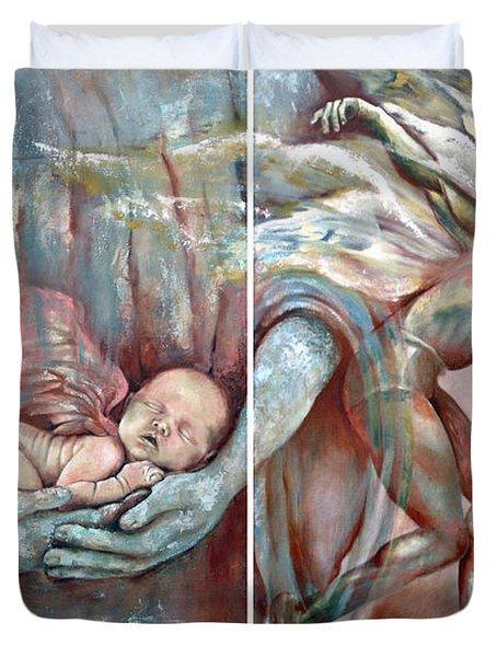 Light Of A Mortal Life Duvet Cover by Karina Llergo