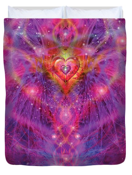 Light Of Passion Reborn Duvet Cover by Alixandra Mullins