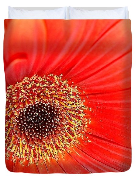 Duvet Cover featuring the photograph Light On by Katy Mei