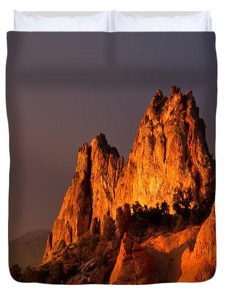 Light On The Rocks Duvet Cover
