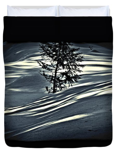Duvet Cover featuring the photograph Light On The Snow by Janie Johnson