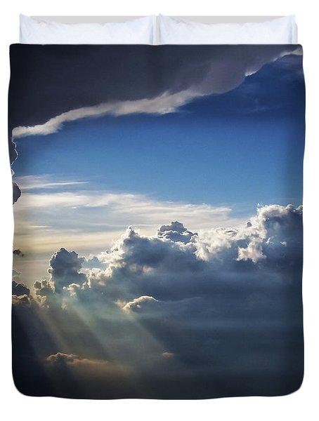 Light Shafts From Thunderstorm II Duvet Cover