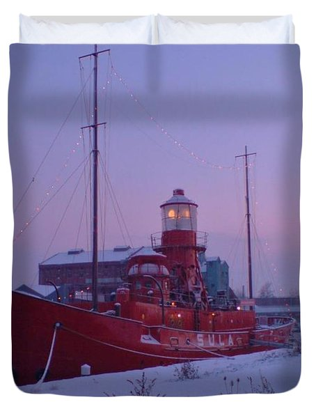 Duvet Cover featuring the photograph Light Ship by John Williams