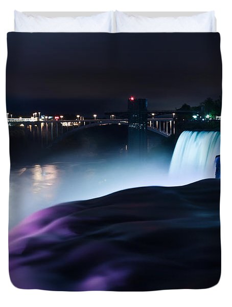 Light Show Duvet Cover by Mihai Andritoiu