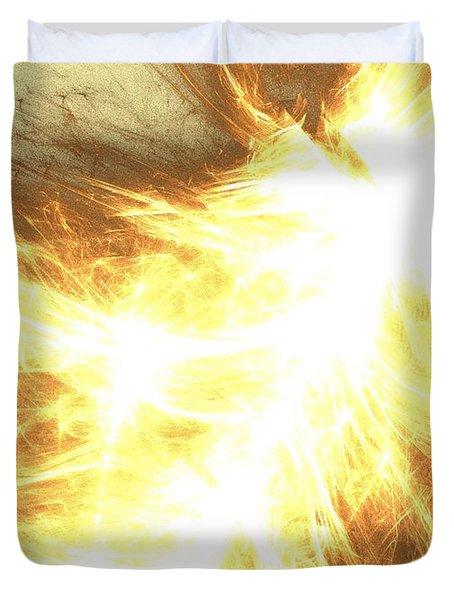 Duvet Cover featuring the digital art Light Spark by Kim Sy Ok