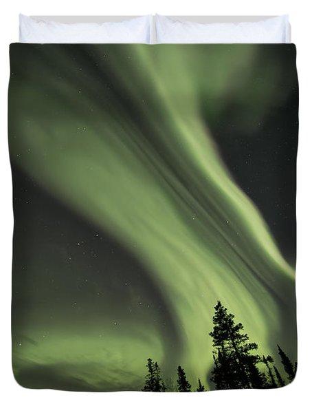 Light Swirls Over The Midnight Dome Duvet Cover
