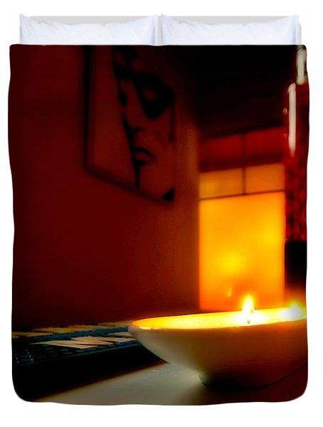 Light The Bottle Duvet Cover by Melinda Ledsome