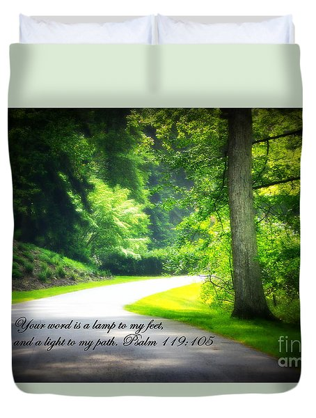 Light To My Path Duvet Cover
