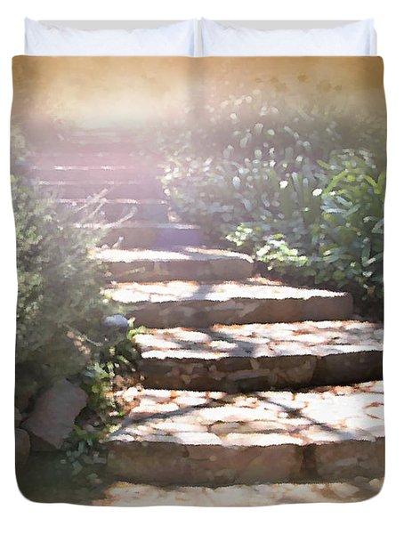 Light Unto My Path Duvet Cover