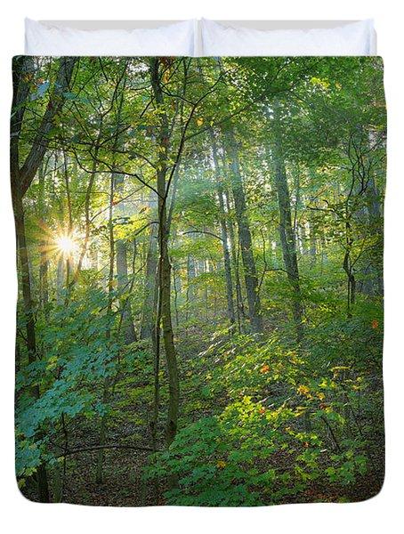 Light Up The Forest Duvet Cover