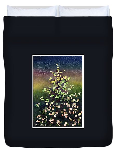 Duvet Cover featuring the painting Light Up The Season by Anne Gifford