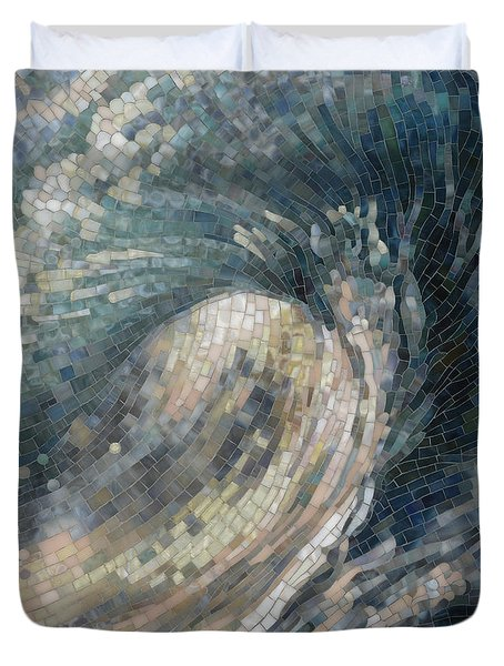 Duvet Cover featuring the painting Light Wave  by Mia Tavonatti