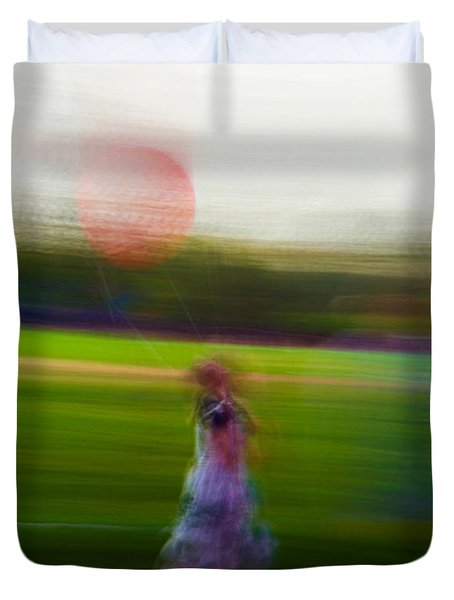 Duvet Cover featuring the photograph Lighter Than Air by Alex Lapidus