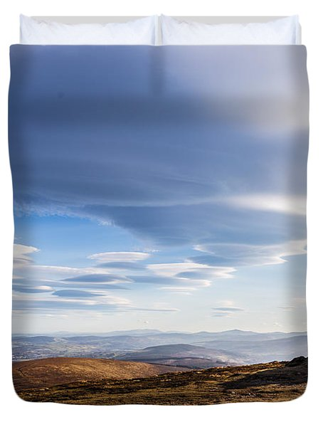 Lightfall On Djouce Mountain Summit Duvet Cover