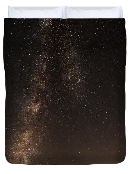 Lighthouse And Milky Way Duvet Cover