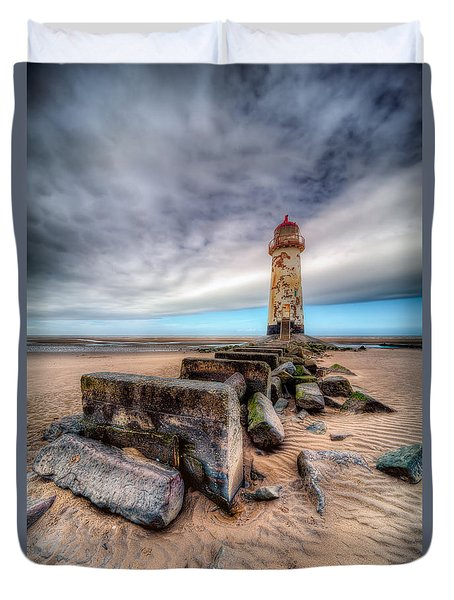 Lighthouse At Talacre  Duvet Cover