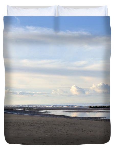 Lighthouse At Talacre Duvet Cover by Spikey Mouse Photography