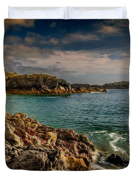 Lighthouse Bay Duvet Cover by Adrian Evans