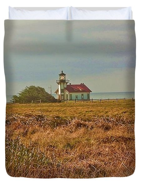 Duvet Cover featuring the photograph Lighthouse by Brian Williamson