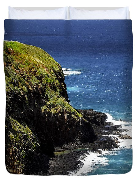 Duvet Cover featuring the photograph Lighthouse By The Pacific by Debbie Karnes