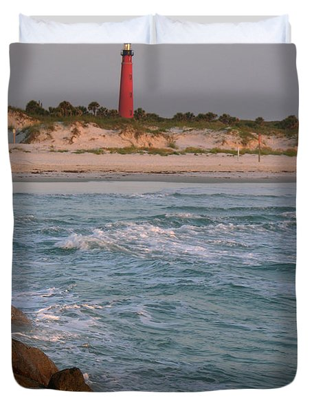 Lighthouse From The Jetty 2 Duvet Cover