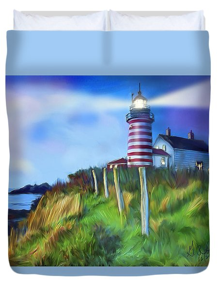 Lighthouse Duvet Cover by Gerry Robins