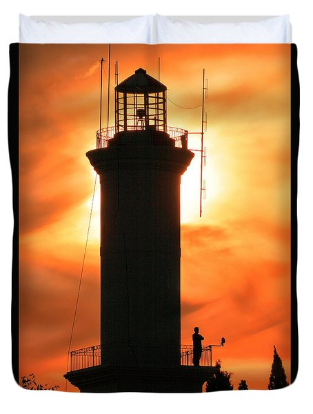 Duvet Cover featuring the photograph Lighthouse I by Bernardo Galmarini