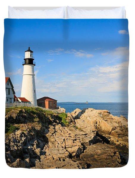 Lighthouse In The Sun Duvet Cover
