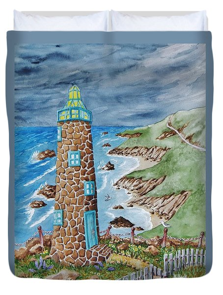 Lighthouse Duvet Cover by Katherine Young-Beck